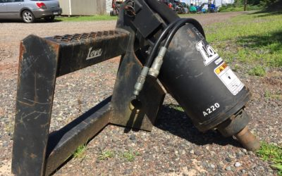 Skid Steer Auger with Various Points